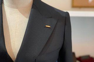 スキャバル ダブルスーツ 黒ー織柄