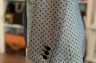 コレクションビエレッシー シルバー織柄 ボタン