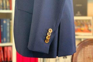 スキャバル ブルーネイビー 織柄