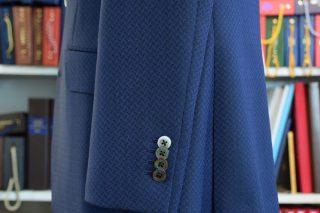 スキャバル ネイビー 織柄