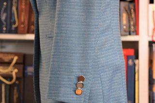 ドーメル ブルーグリーン 織柄
