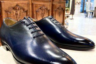 靴 ブルー パティーヌカラー
