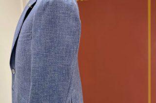 ドーメル ブルー×織柄