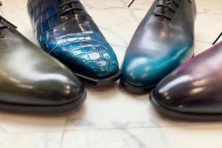 靴 パティーヌカラー、クロコダイル