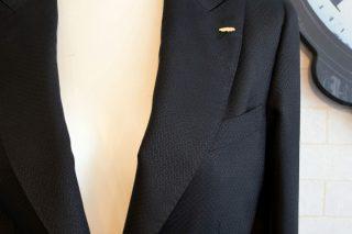 ドーメル ブラック×織柄2